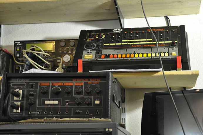 Akai MPC1000, Roland TR-808 and RE-501