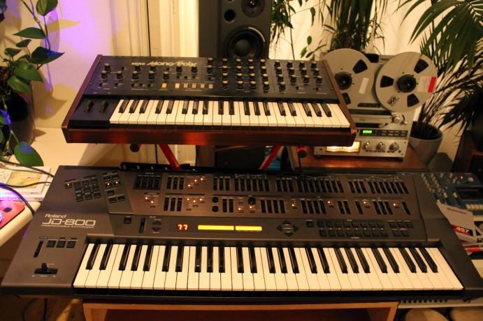 Roland JD-800 & Korg Mono/Poly