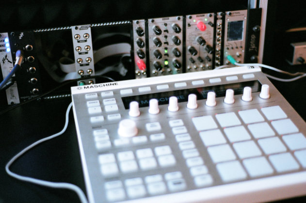 One of Kirk's modular synth systems: the basis of a single synth voice