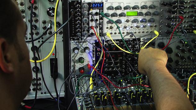 Jason Amm with his Eurorack modular