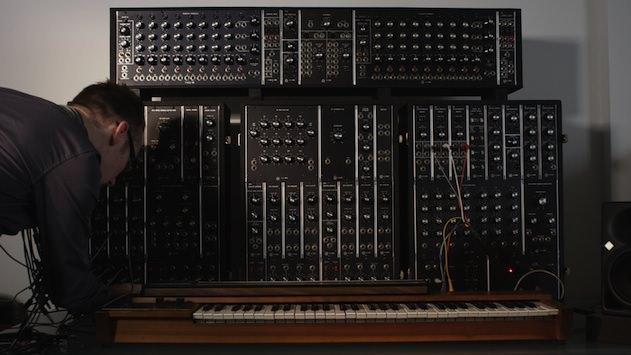 A bank of priceless original Moog modular equipment