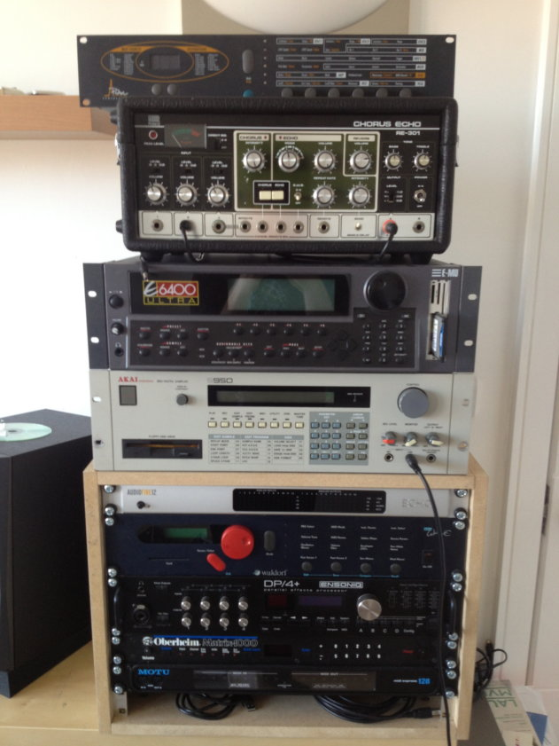 Some of the hardware responsible for revitalising Dixon's creative process