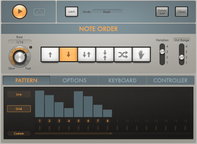 The new MIDI FX slots finally introduce a user-friendly arpeggiator to Logic