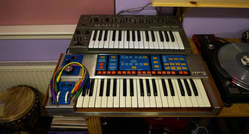 Roland SH-101 & Moog Source