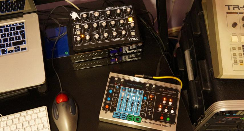 Moog Minitaur & EHX 2880