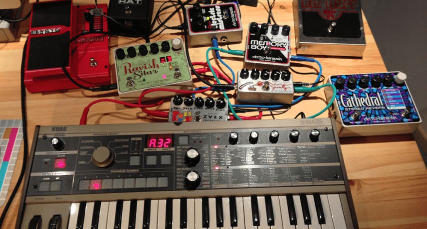 MicroKorg & Pedals