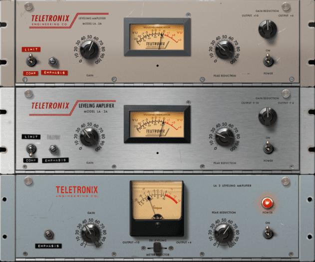 The three new UAD LA-2A plugins