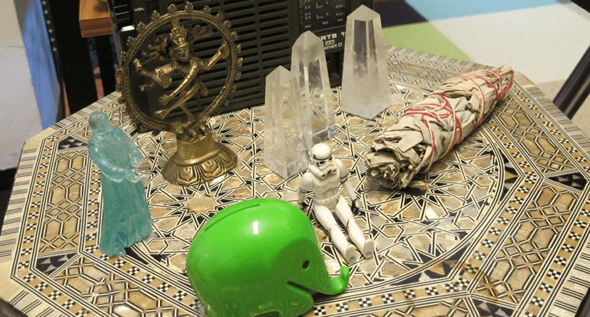 Elephant, Shiva Nataraja, Crystals & Star Wars Toys