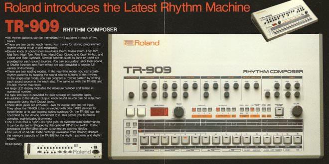 Roland TR-909 retro 1980's advert