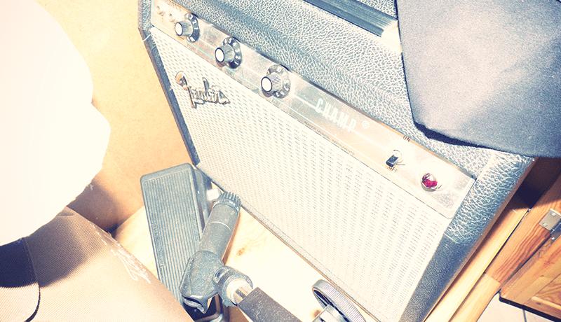 Fender Champ Guitar Amp & Shure SM57 Mic