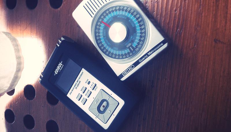 Seiko Metronome & Edirol R-09HR Recorder