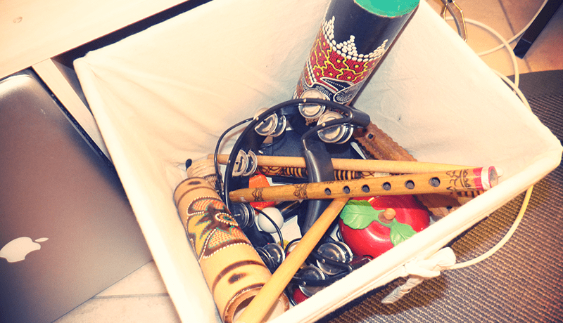 Box Of Percussion, Wind Instruments & Toys