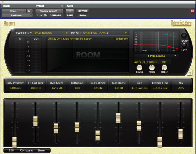Lexicon Room Reverb