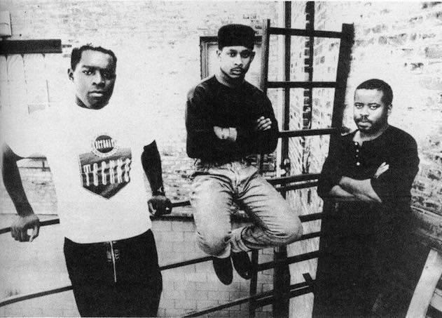 Saunderson circa 1988, with Derrick May and Juan Atkins