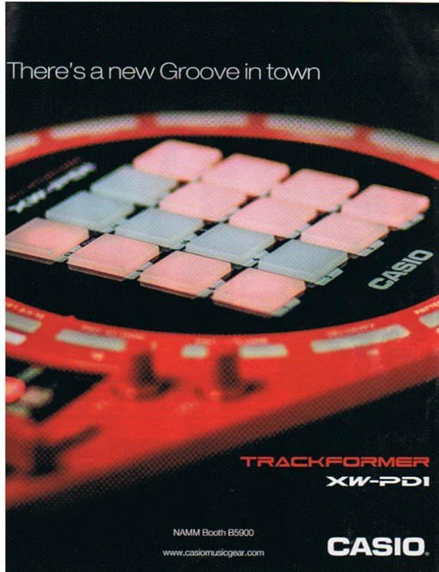 casio xw-pd1 trackformer