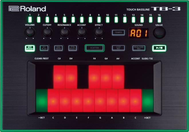 ROLAND AIRA TB-3, new digital synth