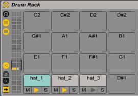Drum Rack_Chain List Button