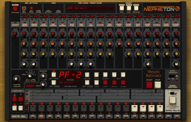 D16 Nepheton, drum synth plugins