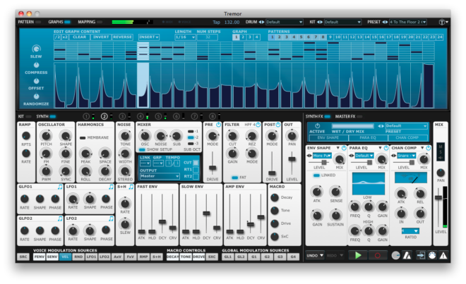 Fxpansion Tremor, drum synth plugins