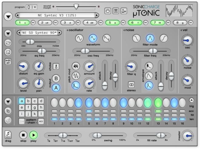 Sonic Charge µTONIC, drum synth plugins