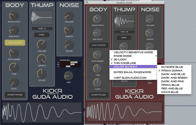 Guda Audio KickR, drum synth plugins