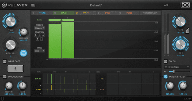 Pic 3a - Delay for use on off-beat bass.