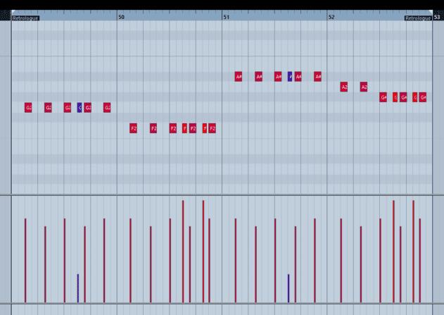 Pic 6a - Simple four bar root rhythm bass.