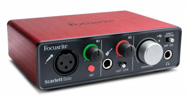 Focusrite Scarlett Solo, Audio Interface, Red