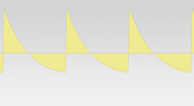 Pic 10c - waveform - single oscillator saw only - cutoff at max.