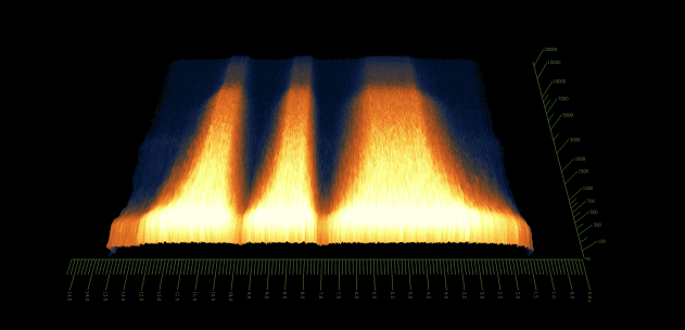 Pic 12a - spectrogram - noise only - manual cutoff changes.