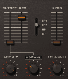 Pic 16a - u-he Diva - analogue-style 12db/octave filter.