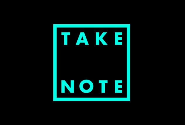 Take Note Logo mint on black