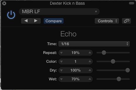 Dexter Bass Seq Delay Settings