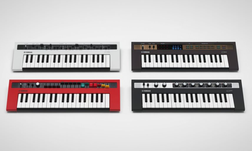 Yamaha reface Series, reface CS: analogue Synthesizer, reface YC: Electric Combo Organ, reface DX: FM Synthesizer, reface CP: Electric Piano