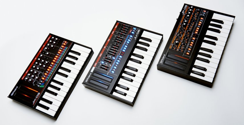 Roland Boutique JP08, JX03 & JU06 synthesisers