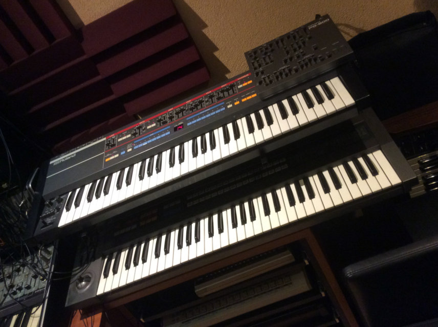 Roland Juno-106 and JX-8P