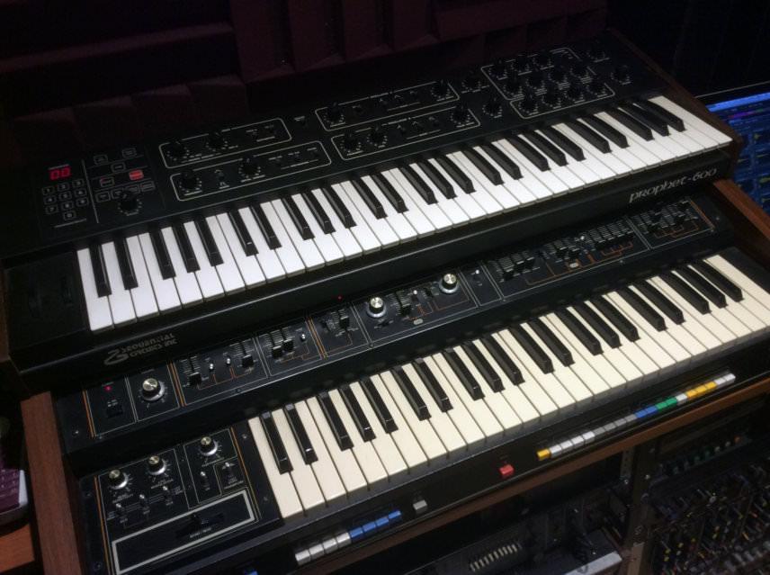 DSI Prophet-600 and Roland Jupiter-4