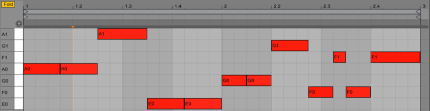 Bass Synth MIDI Screenshot