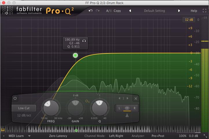 fabfilter pro-q2 highpass equaliser filter