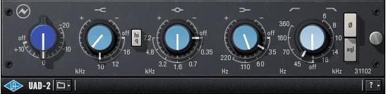 uad-2, Neve 31102, equaliser, equalizer