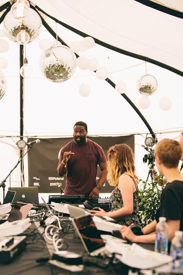 Tony Nwachukwu presenting Knowledge Arena at Outlook Festival, 2016