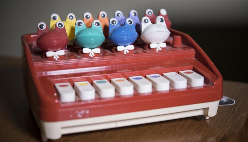 Giorgia Angiuli's frog mini keyboard