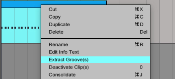 Ableton Extract Groove