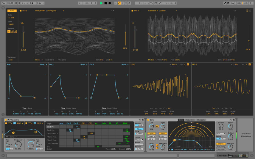 Ableton Live 10 Wavetable
