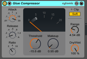 Ableton Glue Compressor