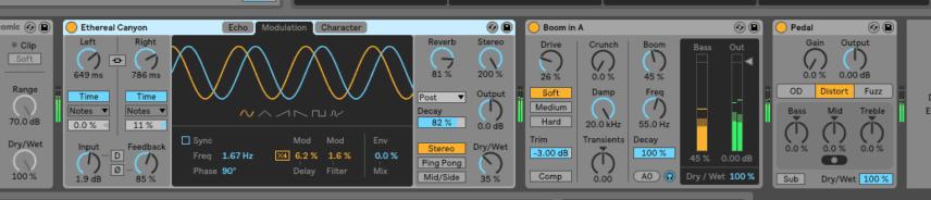 ableton live 10 echo drum buss pedal