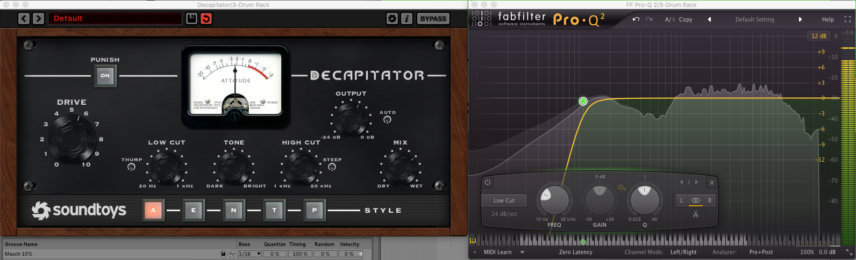 soundtoys decapitator and pro-q2