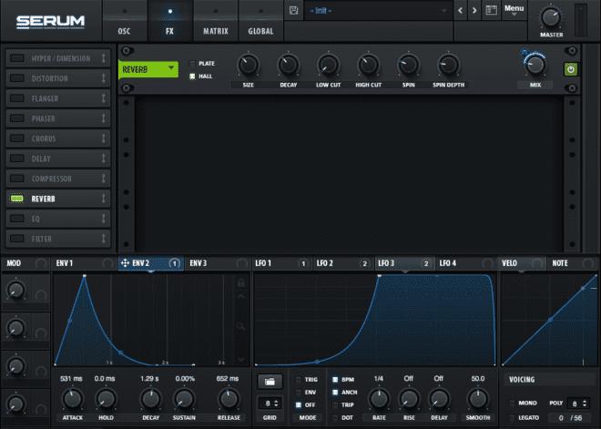 Modulating Serum's FX for Beat Pulsing Plucks Step 5.4