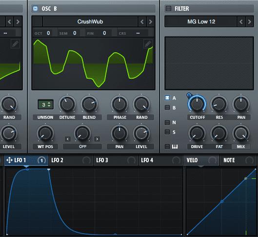 Modulating Serum's FX for Beat Pulsing Plucks Step 2.2