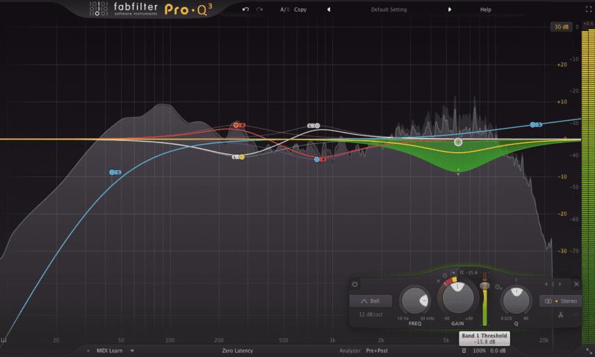Fab Filter Pro-Q 3 Dynamic Controls